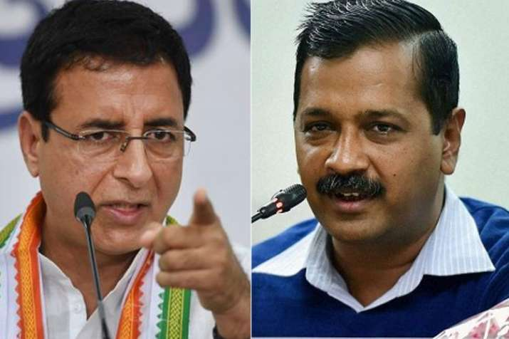 Randeep Singh Surjewala and Arvind Kejriwal | PTI File- India TV