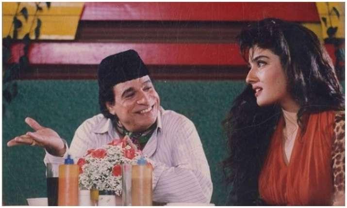 Raveena Tondon and Kader khan- India TV