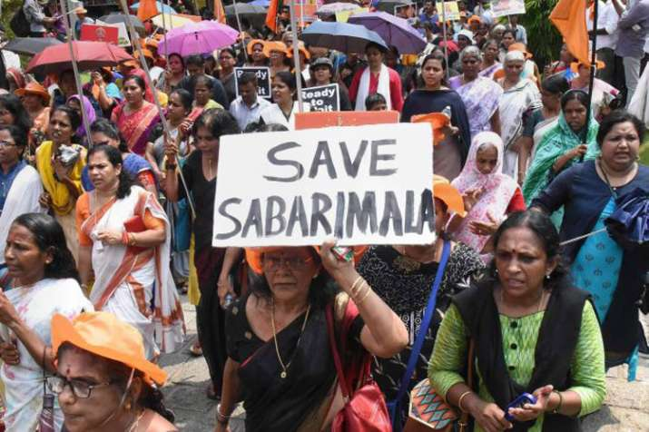 सबरीमाला विवाद: 'वीमेन वॉल' अभियान में लाखों महिलाएं लेंगी हिस्सा- India TV