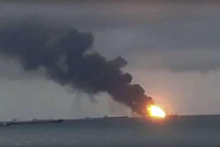 Russia Ship Fire- India TV
