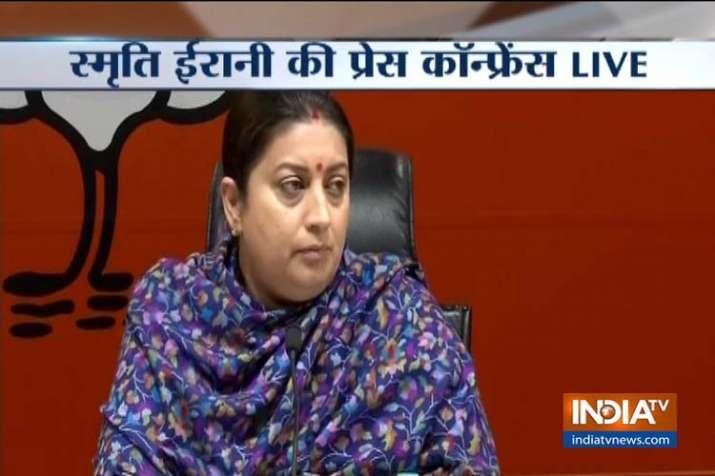Smriti Irani- India TV