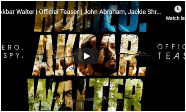 teaser of Romeo Akbar Walter- India TV