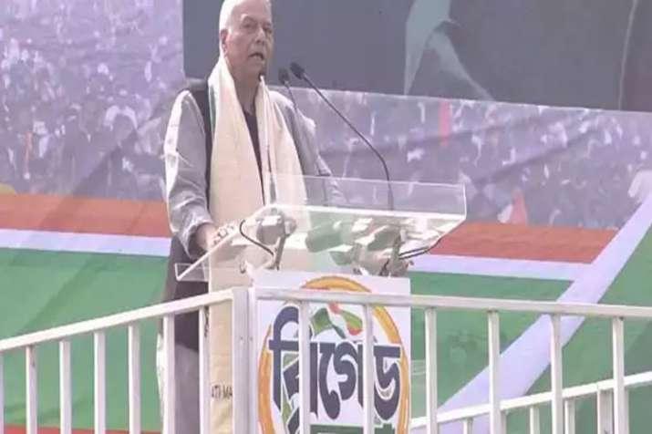 संयुक्त विपक्षी रैली में बोले यशवंत सिन्हा, आंकड़ों के साथ 'बाजीगरी' कर रही है मोदी सरकार- India TV