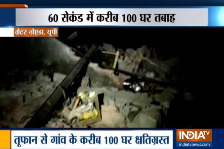 100 houses collapse within 60 seconds as storm hits Greater Noida, many injured- India TV