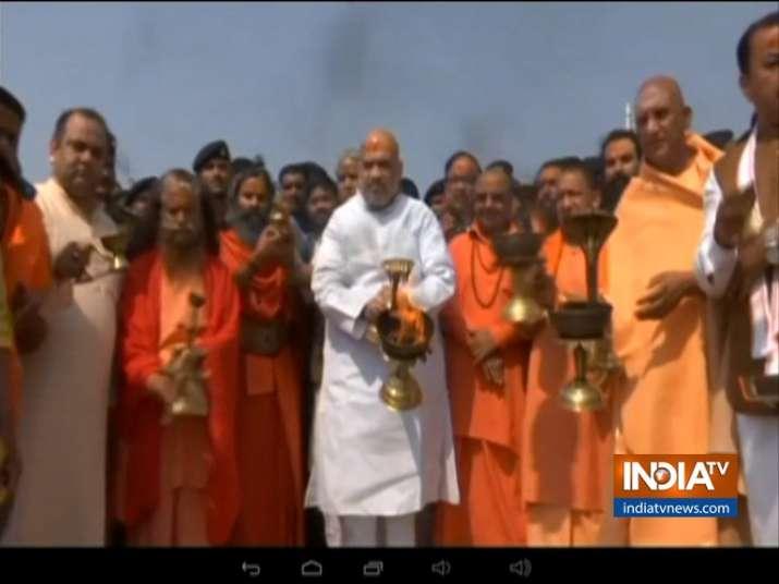 Amit Shah at Kumbh- India TV