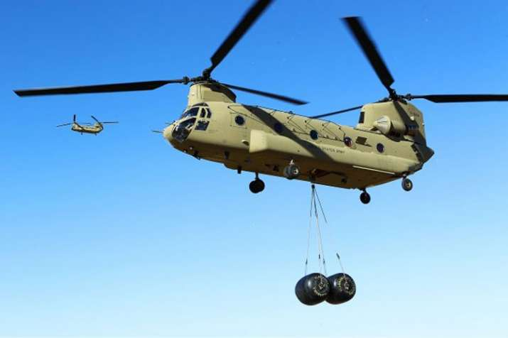 First batch of Chinook military helicopters arrives in India from US- India TV