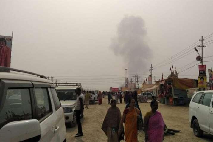 Prayagraj: Fire had broken out in two tents at Kumbh Mela 2019 | ANI- India TV