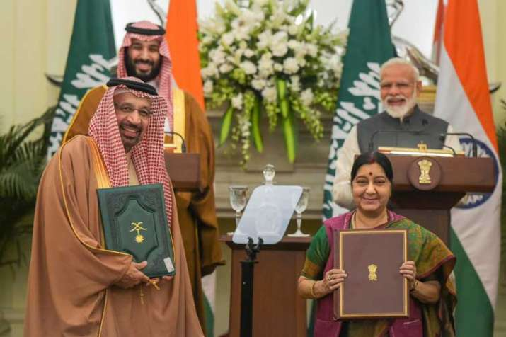Prime Minister Narendra Modi and the Crown Prince of...- India TV