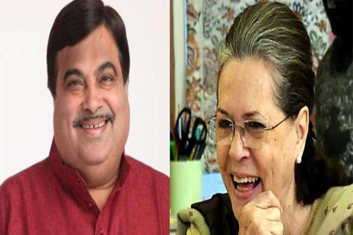 Sonia Gandhi and Mallikarjun Kharge applauses Nitin Gadkari in Parliament- India TV