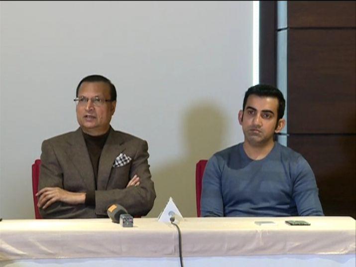 DDCA President Rajat Sharma along with former India cricketer Gautam Gambhir- India TV
