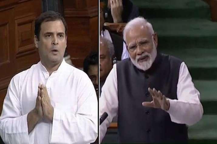 rahul gandhi and pm narendra modi- India TV