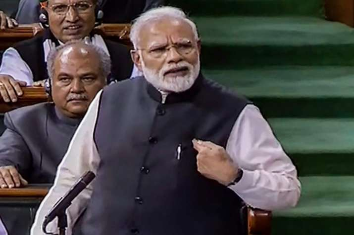 PM Narendra Modi in Loksabha- India TV