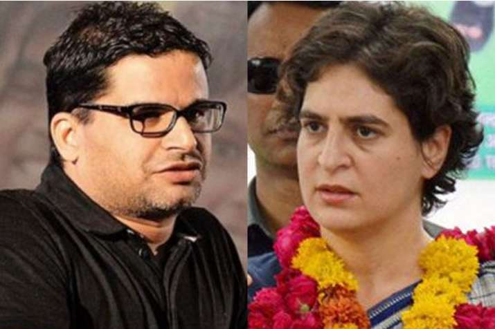 Prashant Kishor and Priyanka Gandhi Vadra | PTI- India TV
