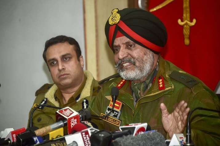 Lt General KJS Dhillon with Inspector General of Police...- India TV