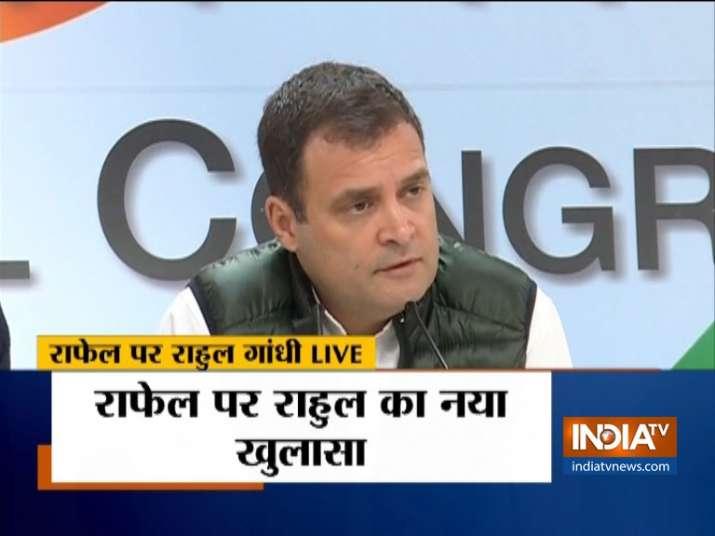 Rahul Gandhi's fresh allegation against PM Modi on Rafale Deal- India TV