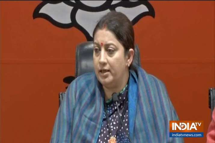 smriti irani on Mamta banerjee- India TV