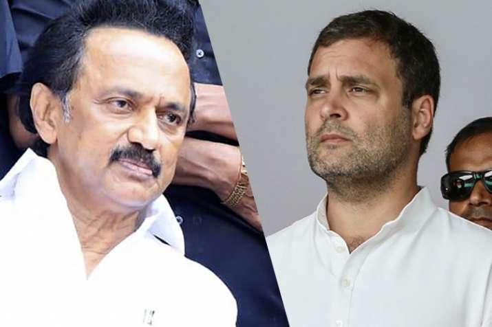 DMK president M K Stalin and Congress president Rahul...- India TV