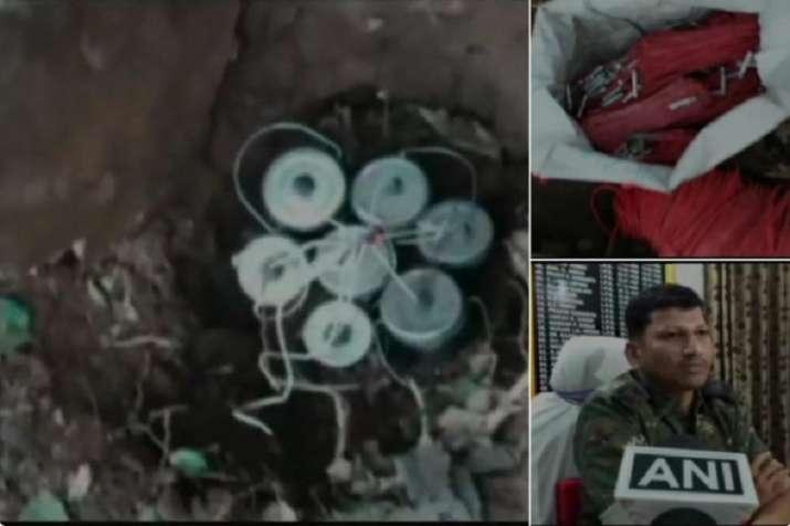 17 cane bombs, more than 200 detonators and grenade was...- India TV