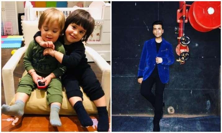 Karan johar and his kids- India TV