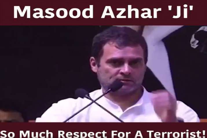Rahul Gandhi calls JeM terrorist as Masood Azhar Ji- India TV