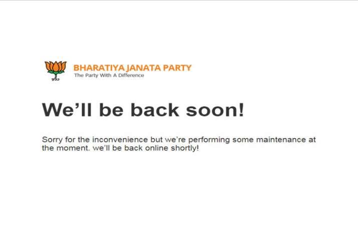 Official website of BJP hacked, taken offline- India TV