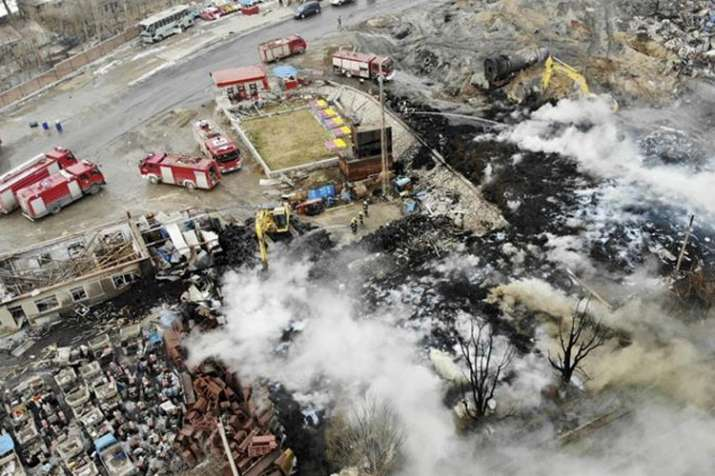 Death toll from east China factory blast jumps to 44, tells State media | AP- India TV