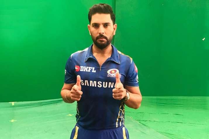 Yuvraj Singh first ball at MI's net practice- India TV