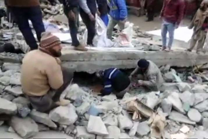 Bathri market of Bhalessa area collapsed in a landslide...- India TV