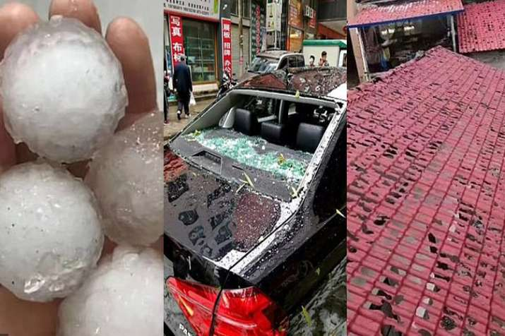 Huge hailstones hammered Chinese county- India TV