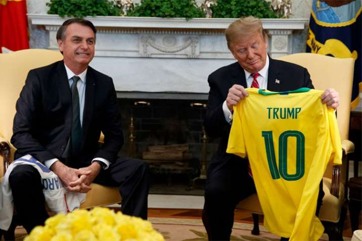 Donald Trump suggests Brazil could join NATO as he meets Jair Bolsonaro | AP- India TV