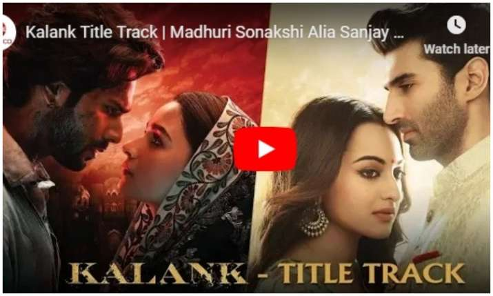Kalank Title Track- India TV