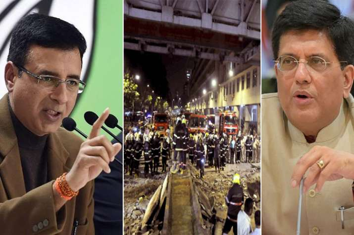 Congress seeks Piyush Goyal's resignation over Mumbai bridge collapse- India TV