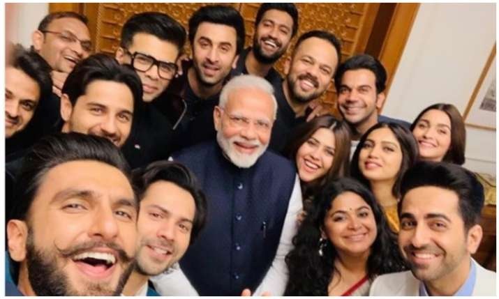 PM modi with bollywood celebrities- India TV