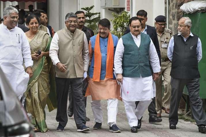 BJP delegation comprising Ravi Shankar Prasad, Nirmala...- India TV