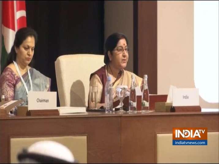 Sushma Swaraj at OIC- India TV