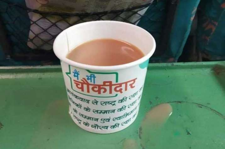Railways in soup over tea cups with 'main bhi...- India TV