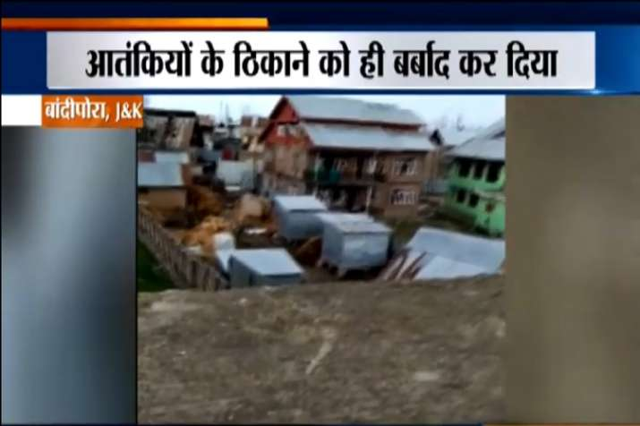 Security forces blasts a house during an encounter with...- India TV