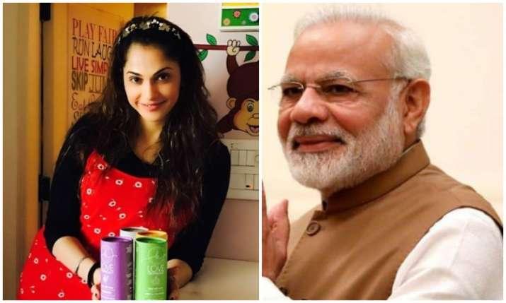 Isha Koppikar and PM Modi- India TV