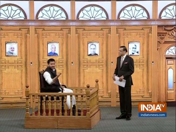 Tejashwi Yadav in Aap Ki Adalat- India TV