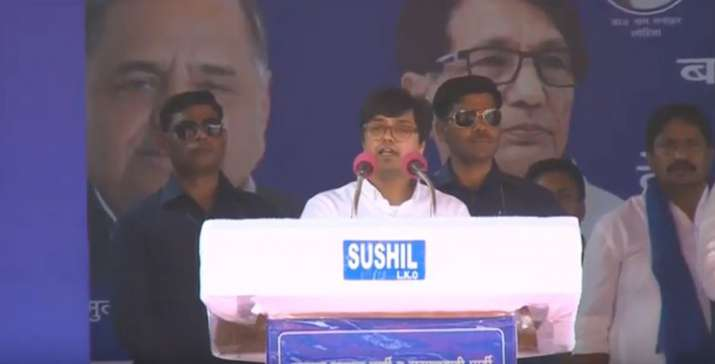 Akash Anand's first speech at Mahagathbandhan's Agra Rally - India TV
