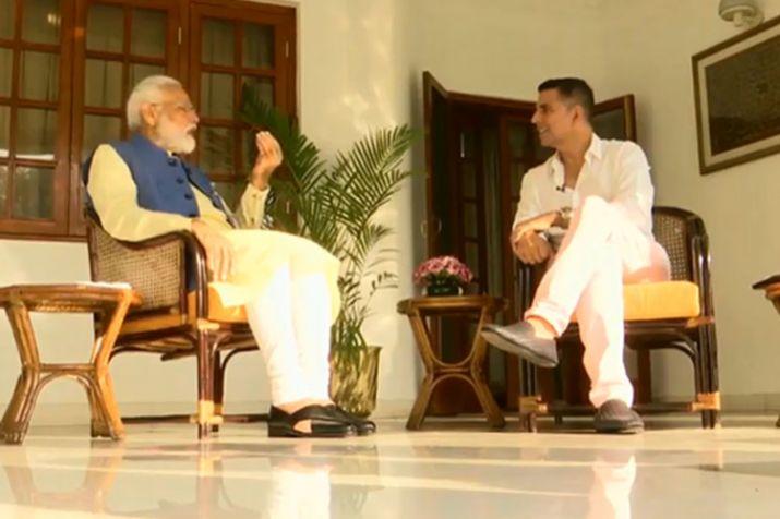 PM Modi interview with akshay kumar- India TV