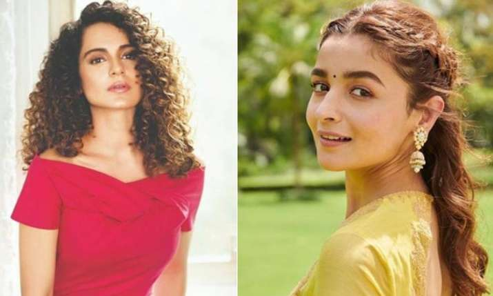 Alia Bhatt responds to Kangana Ranaut mediocre comment- India TV