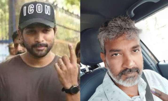 Allu Arjun, SS Rajamouli and Jr NTR cast their vote in Lok Sabha Elections 2019- India TV
