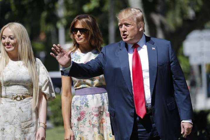 President Donald Trump, right, with first lady Melania...- India TV