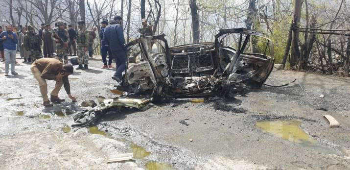 Visuals from the site of the explosion in Jammu and...- India TV