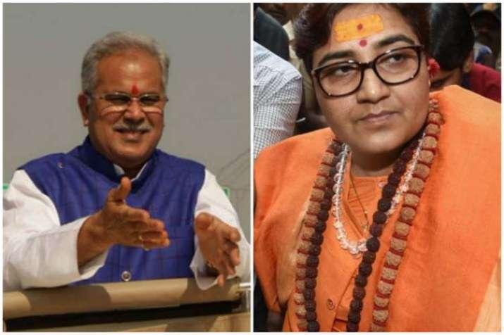 Bhupesh Baghel and Pragya Thakur- India TV