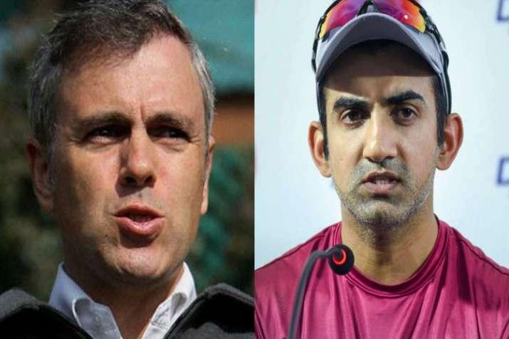 Gautam Ganbhir targates Omar Abdullah- India TV
