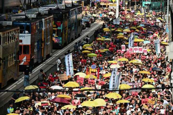 Huge protest in Hong Kong- India TV