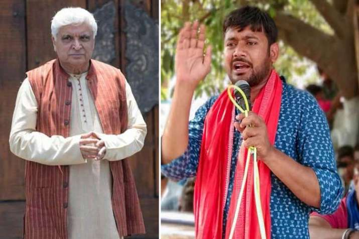 javed akhtar and kanhaiya kumar- India TV