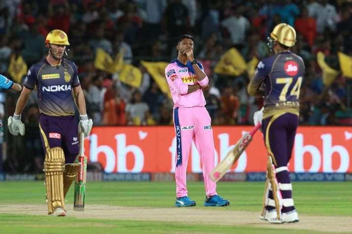 लाइव क्रिकेट स्कोर, आईपीएल 2019 राजस्थान रॉयल्स बनाम कोलकाता नाइट राइडर्स, Live Cricket Score RR vs - India TV